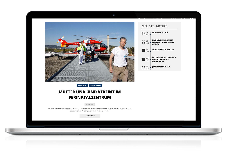MacBook mit KSW Report